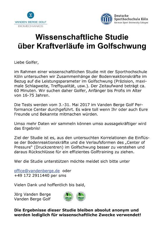 Master thesis on golf