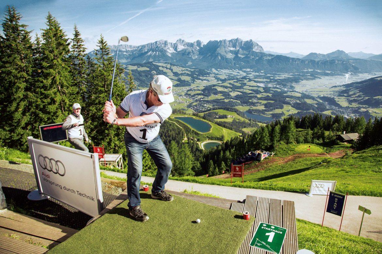 """""""Streif-Attack"""": Wenn Golfer vom Hahnenkamm abschlagen"""