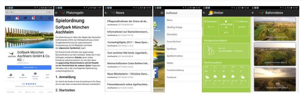 Die App bietet Spielmanagement für engagierte Golfer