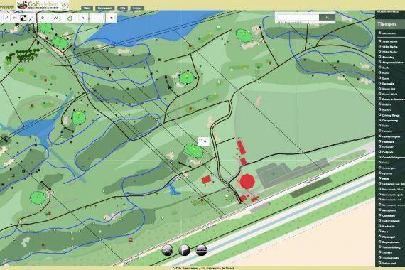Digitaler Golfplatz der Zukunft